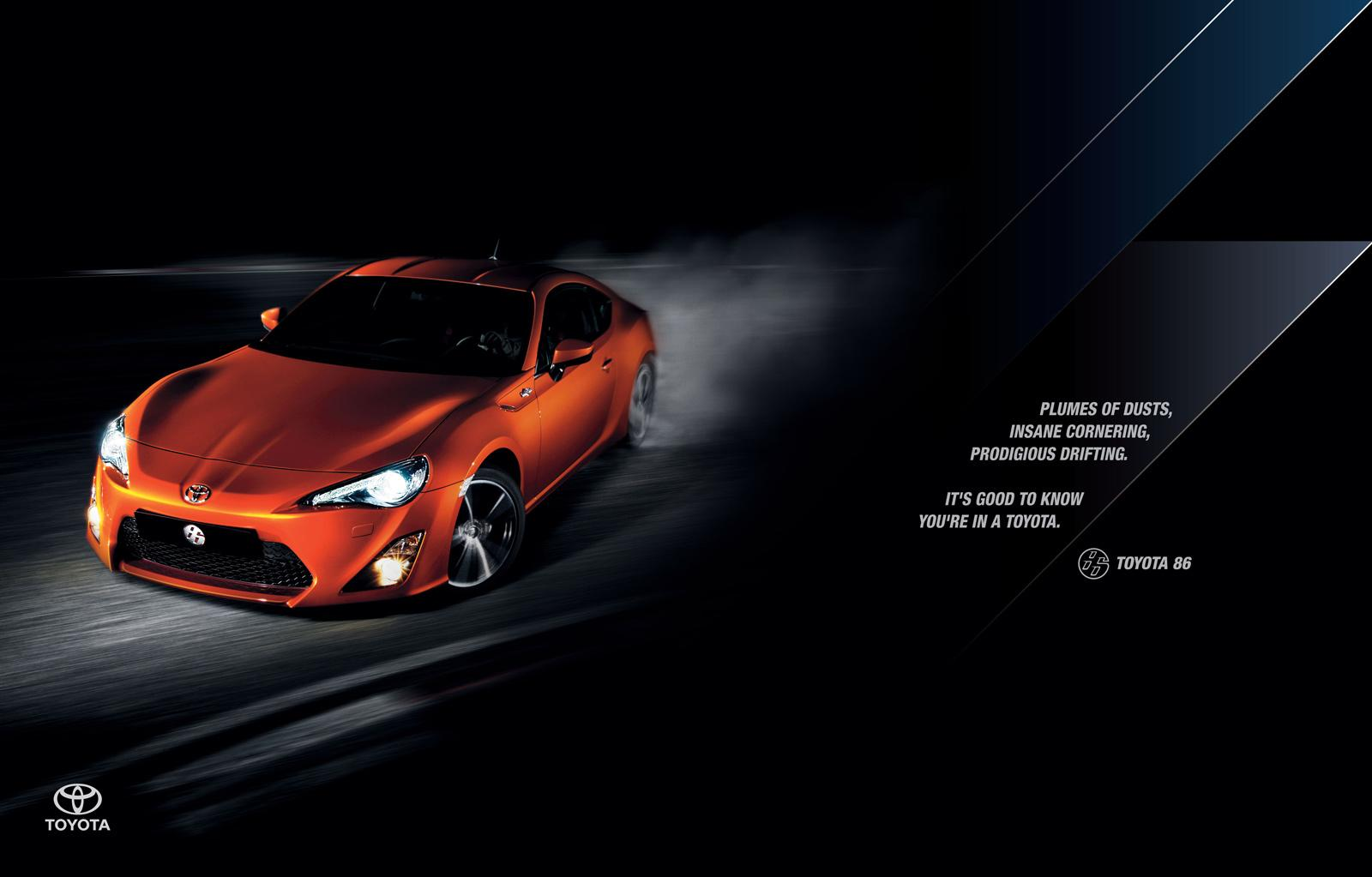 Toyota Print Ad -  Drifting