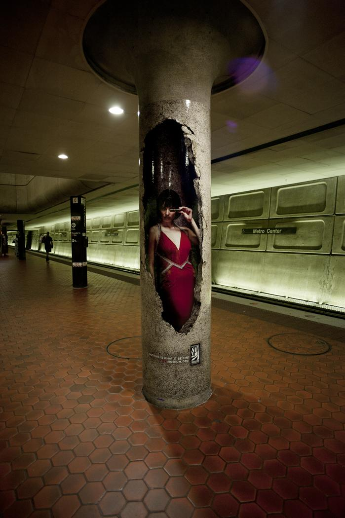 International Spy Museum Outdoor Ad -  Red dress