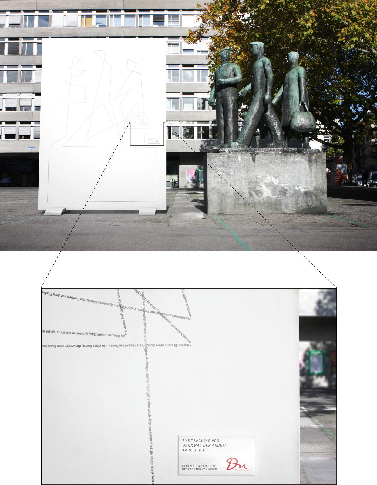 DU Kulturmagazin Outdoor Ad -  Eyetracking of Monument to Labor