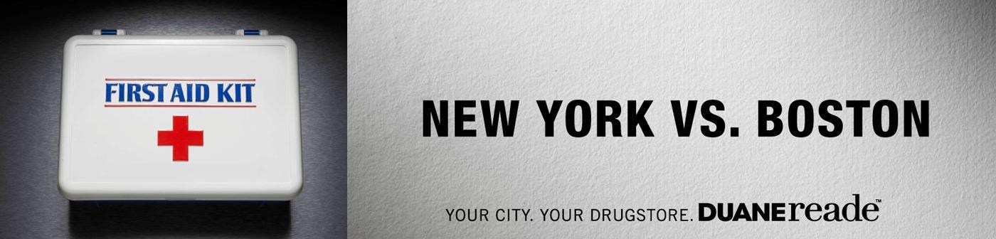 Duane Reade Print Ad -  New York Vs. Boston