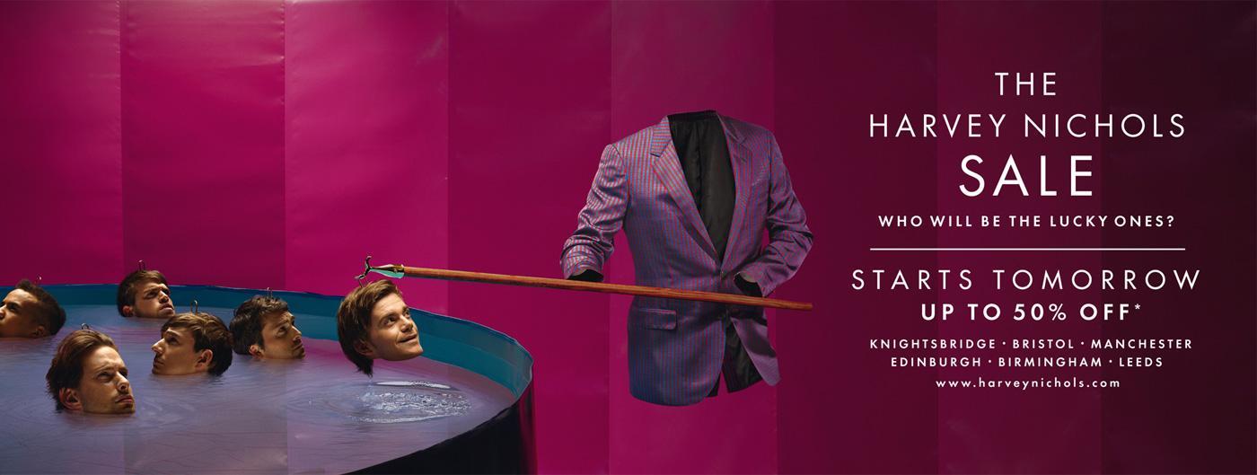 Harvey Nichols Print Ad -  Pool
