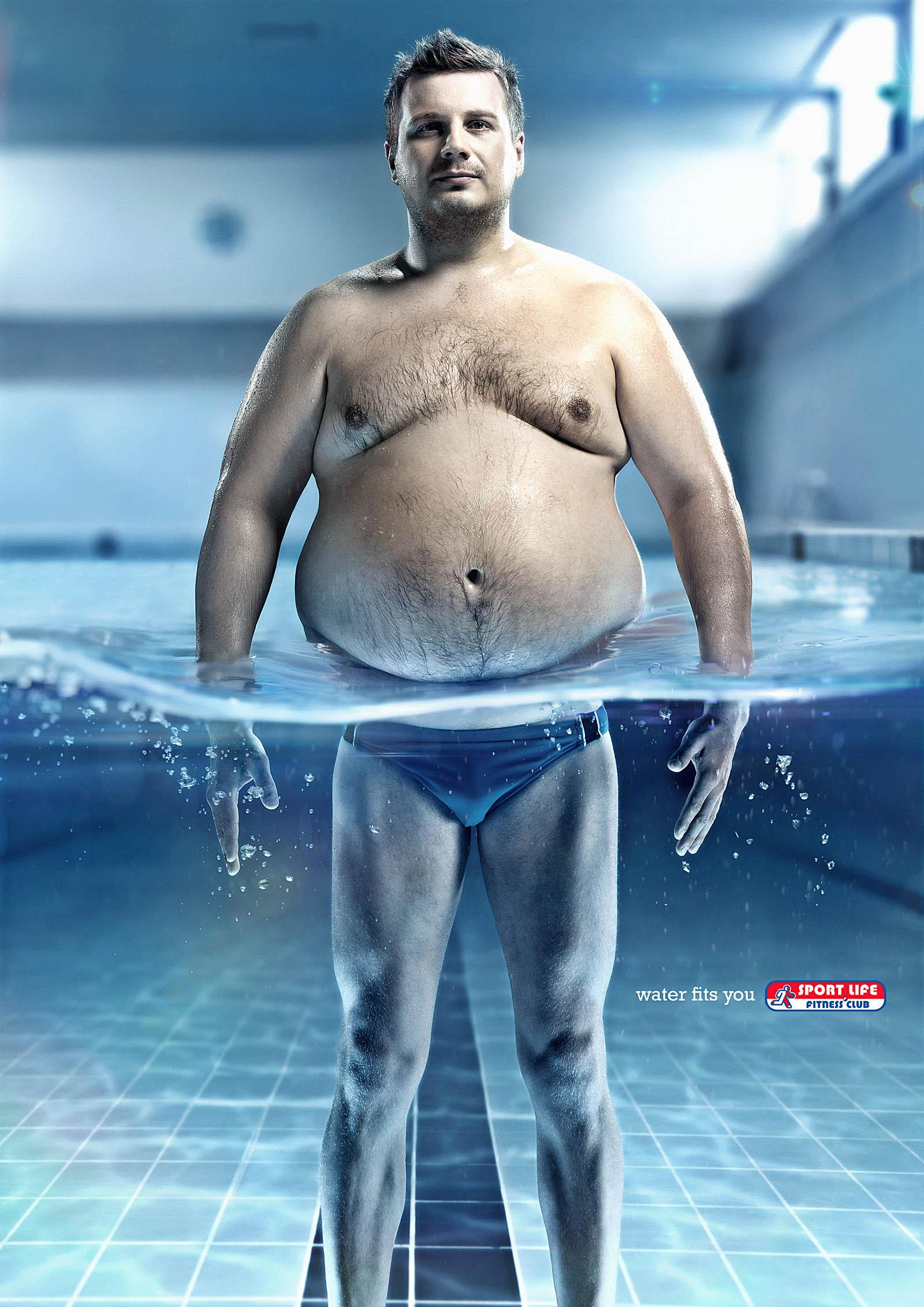 Sportlife Print Ad -  Water fits you, Guy