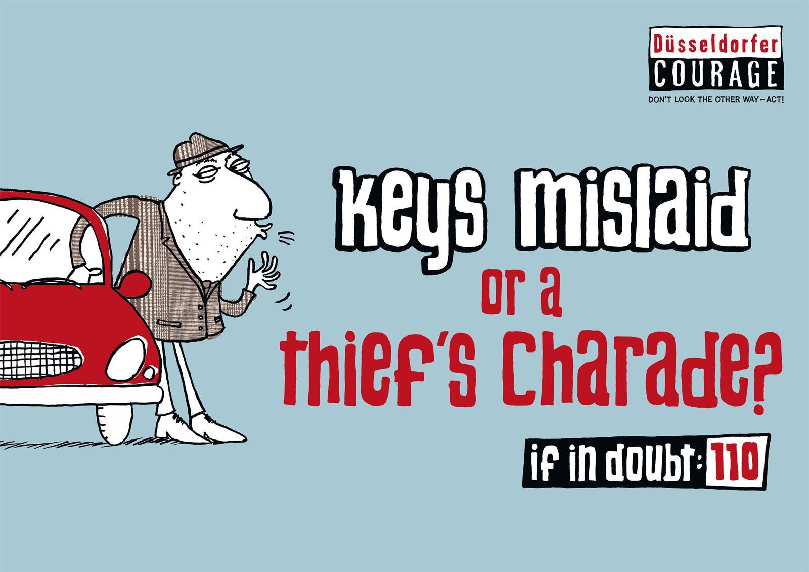 Duesseldorfer Courage Print Ad -  Keys mislaid