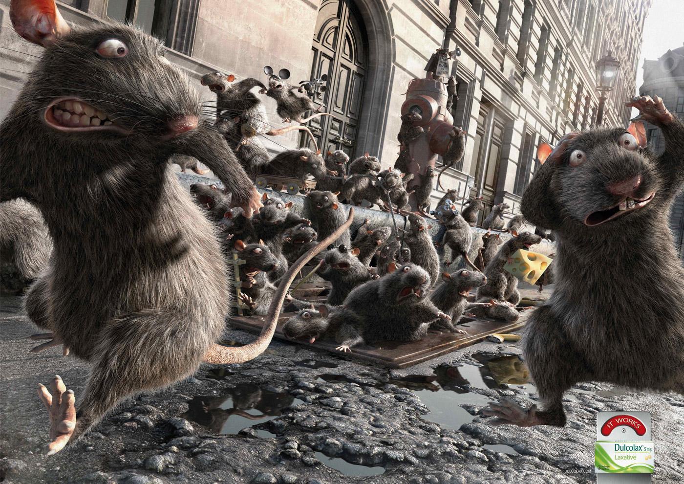 Dulcolax Print Ad -  Rats