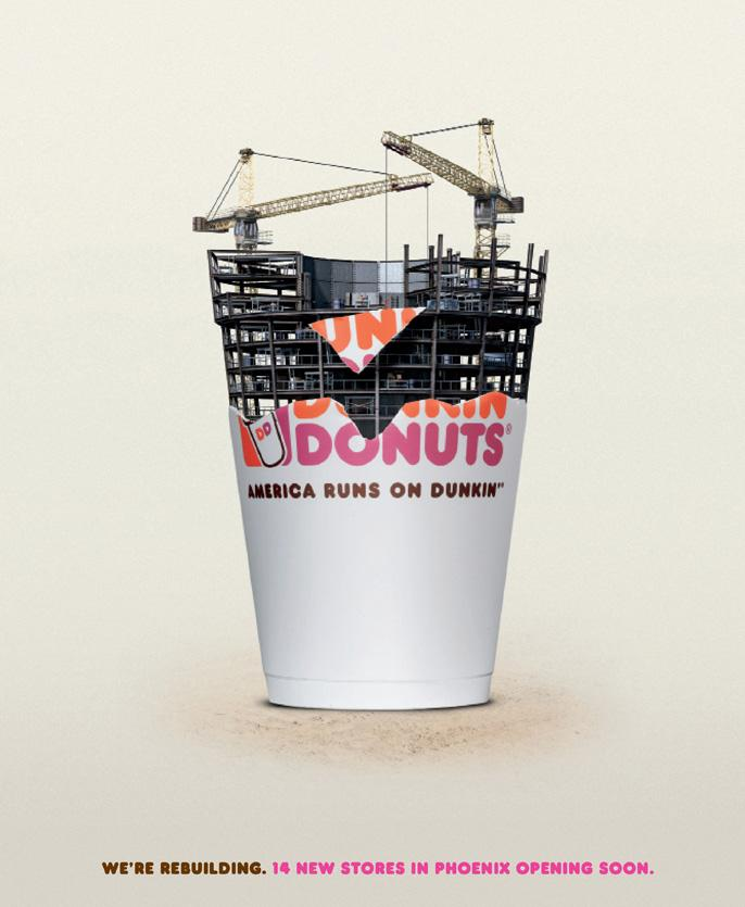 Dunkin' Donuts Print Ad -  Rebuilding