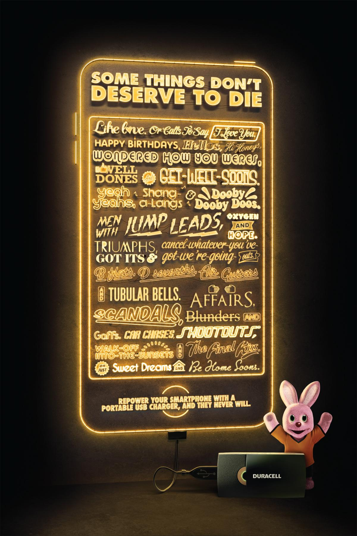 Duracell Print Ad -  Some things don't deserve to die