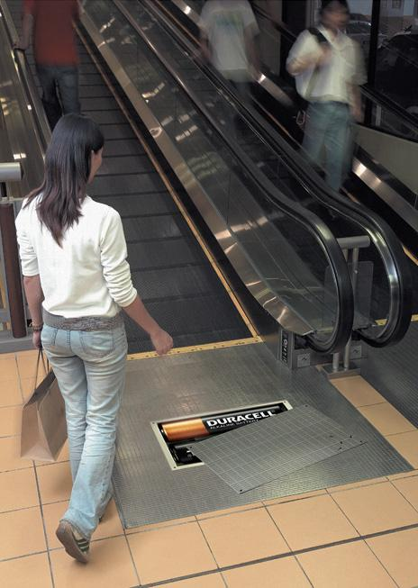 Duracell escalator