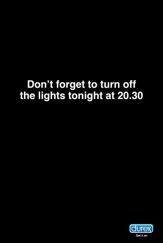 Durex Outdoor Ad -  Earth hour