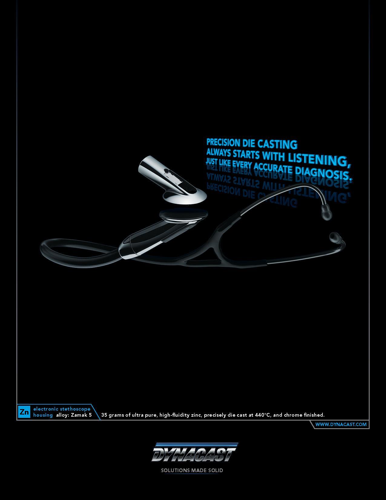 Dynacast Print Ad -  Diagnosis