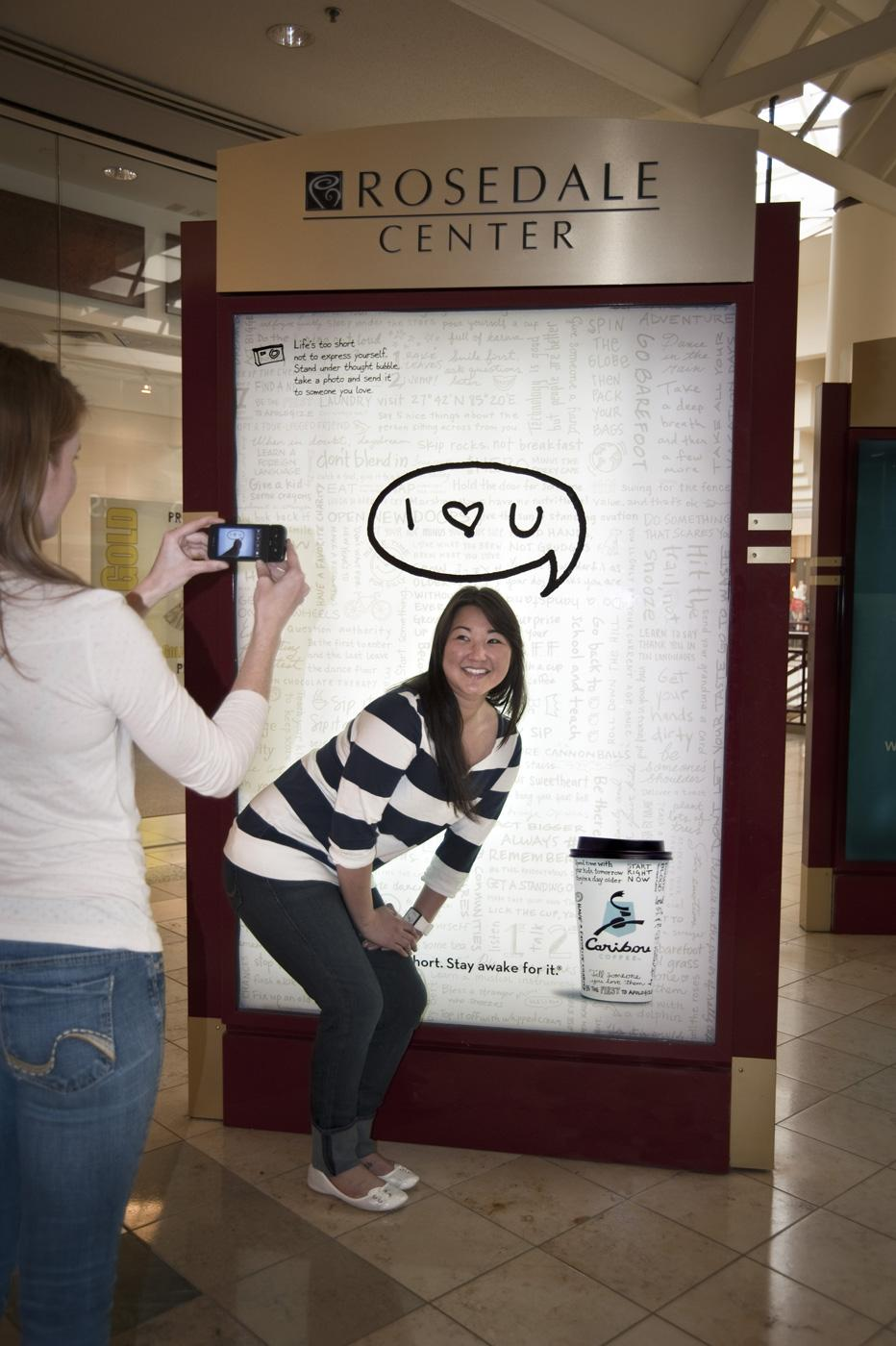 Caribou Coffee Outdoor Ad -  I love you