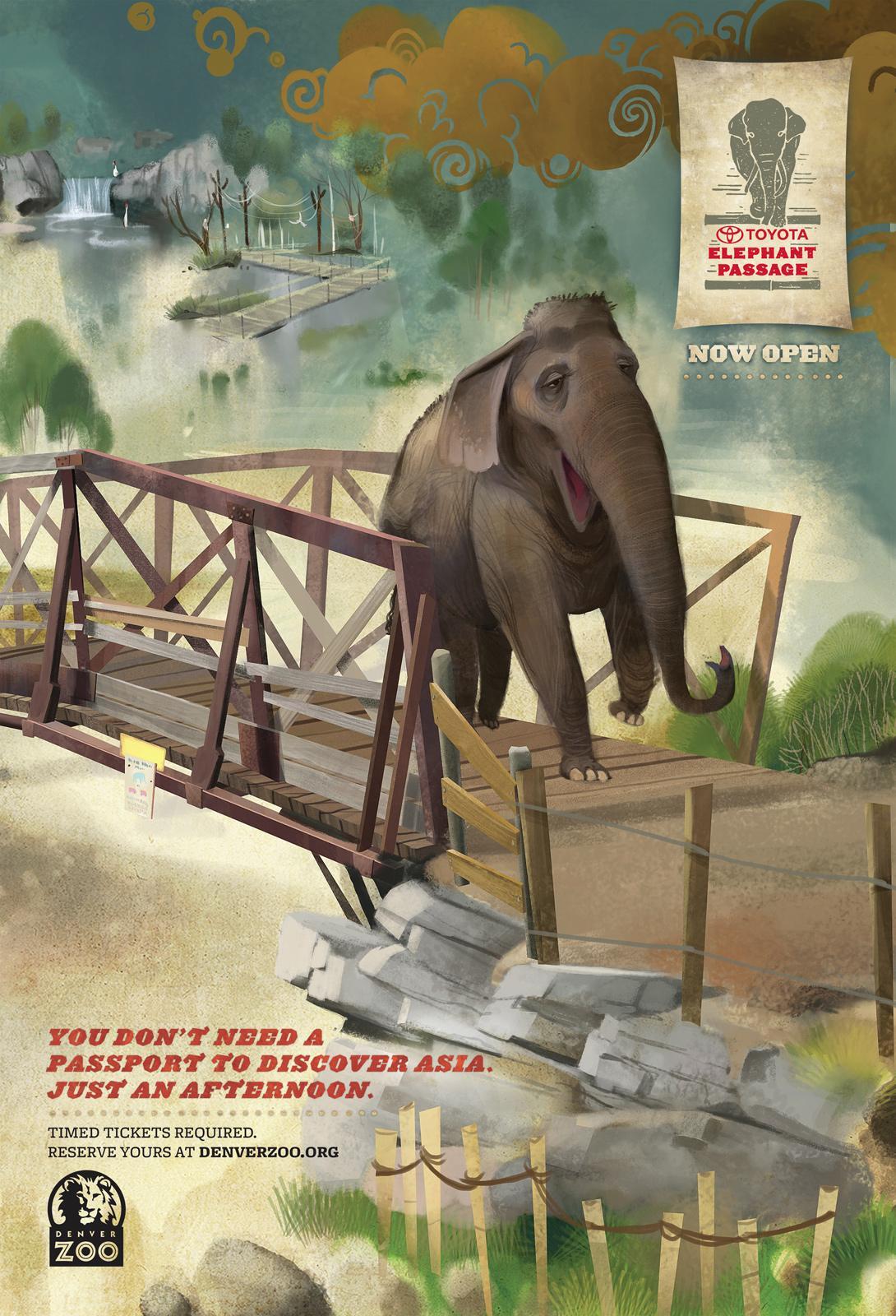 Denver Zoo Outdoor Ad -  Bridge