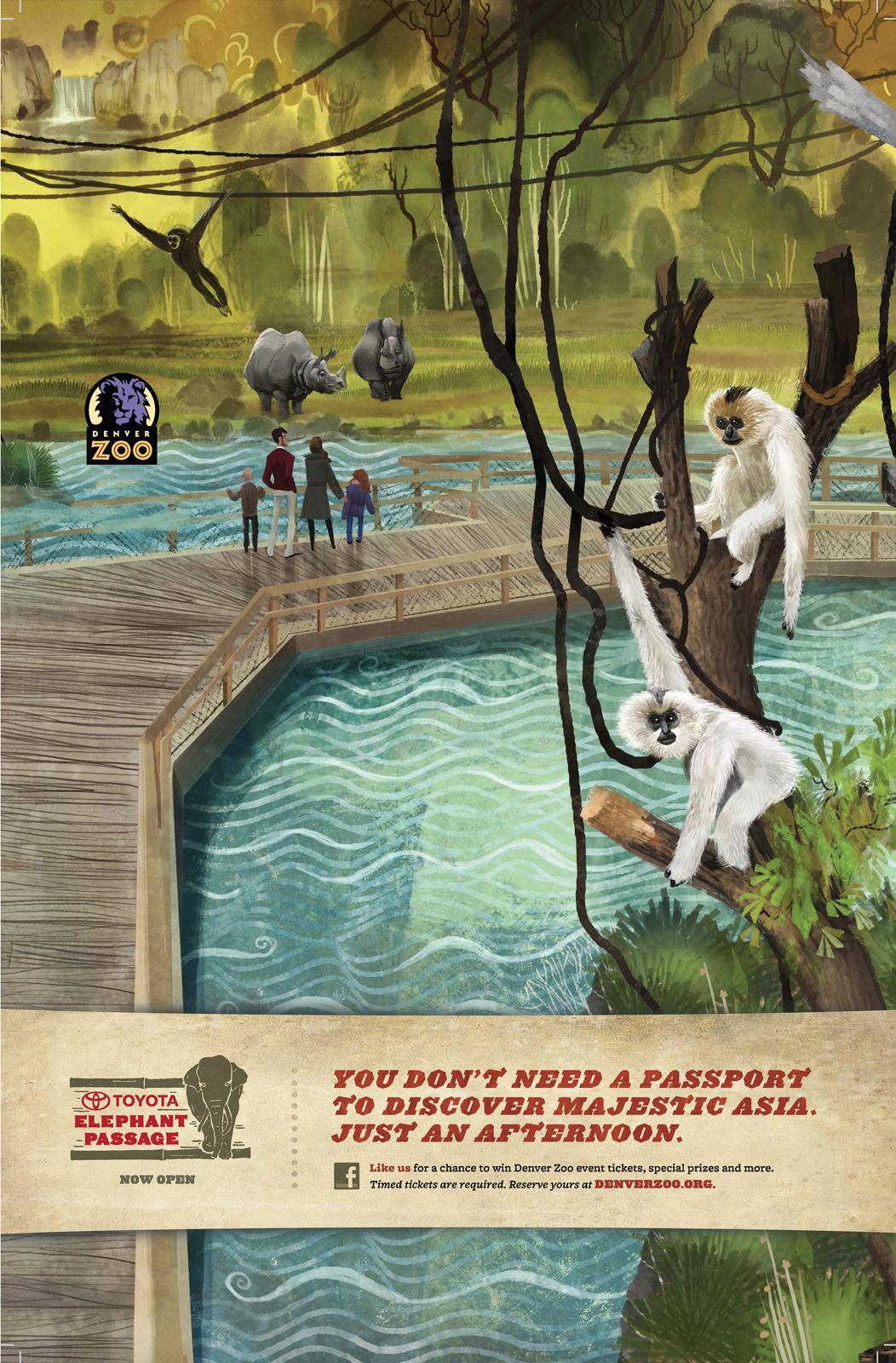 Denver Zoo Outdoor Ad -  Island