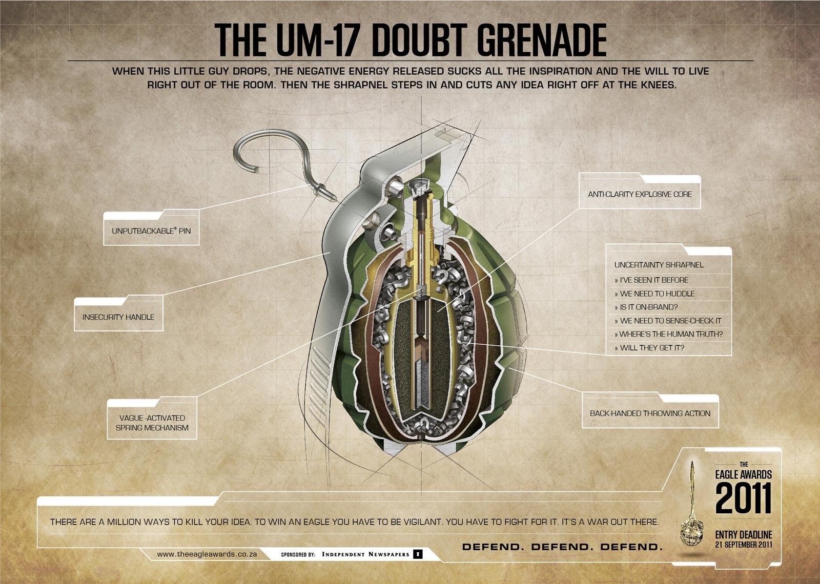 Eagle Print Awards Print Ad -  Grenade