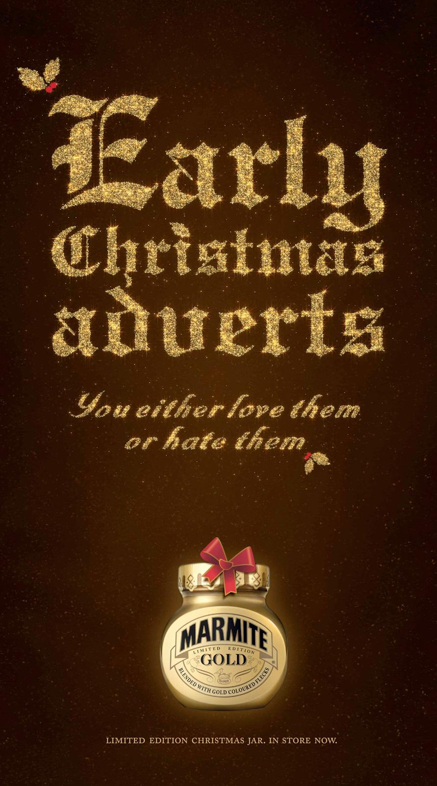 Marmite Print Ad -  Early Xmas