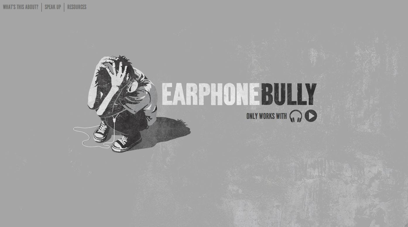 Earphone Bully Digital Ad -  Only works with earphones