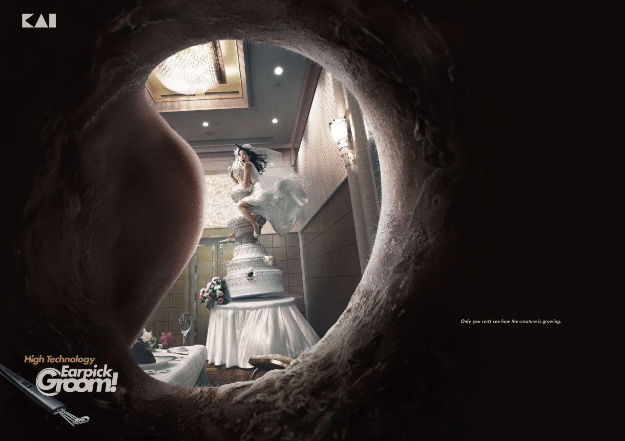 Earpick Groom Print Ad -  Bride