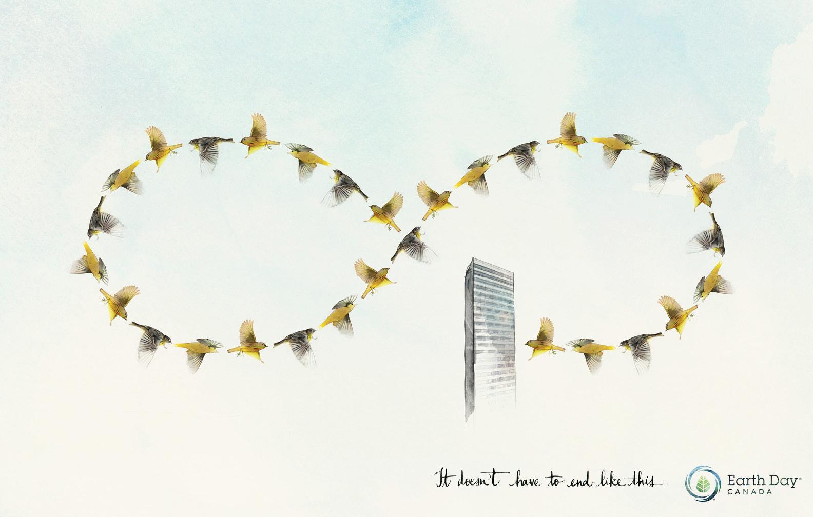 Earth Day Print Ad -  Bird