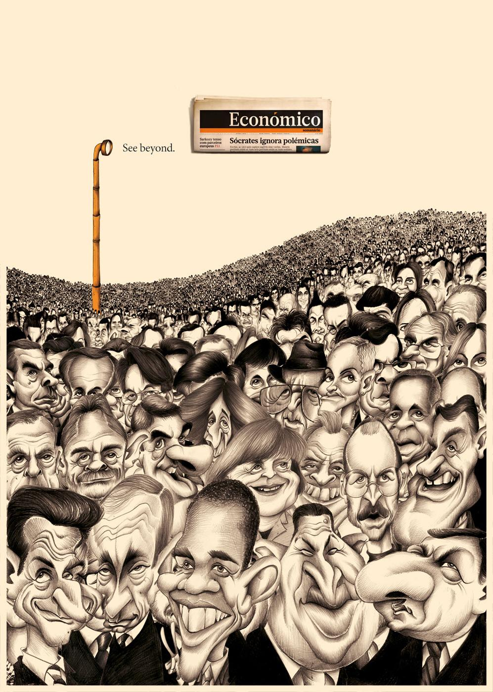 Economico Print Ad -  Caricatures