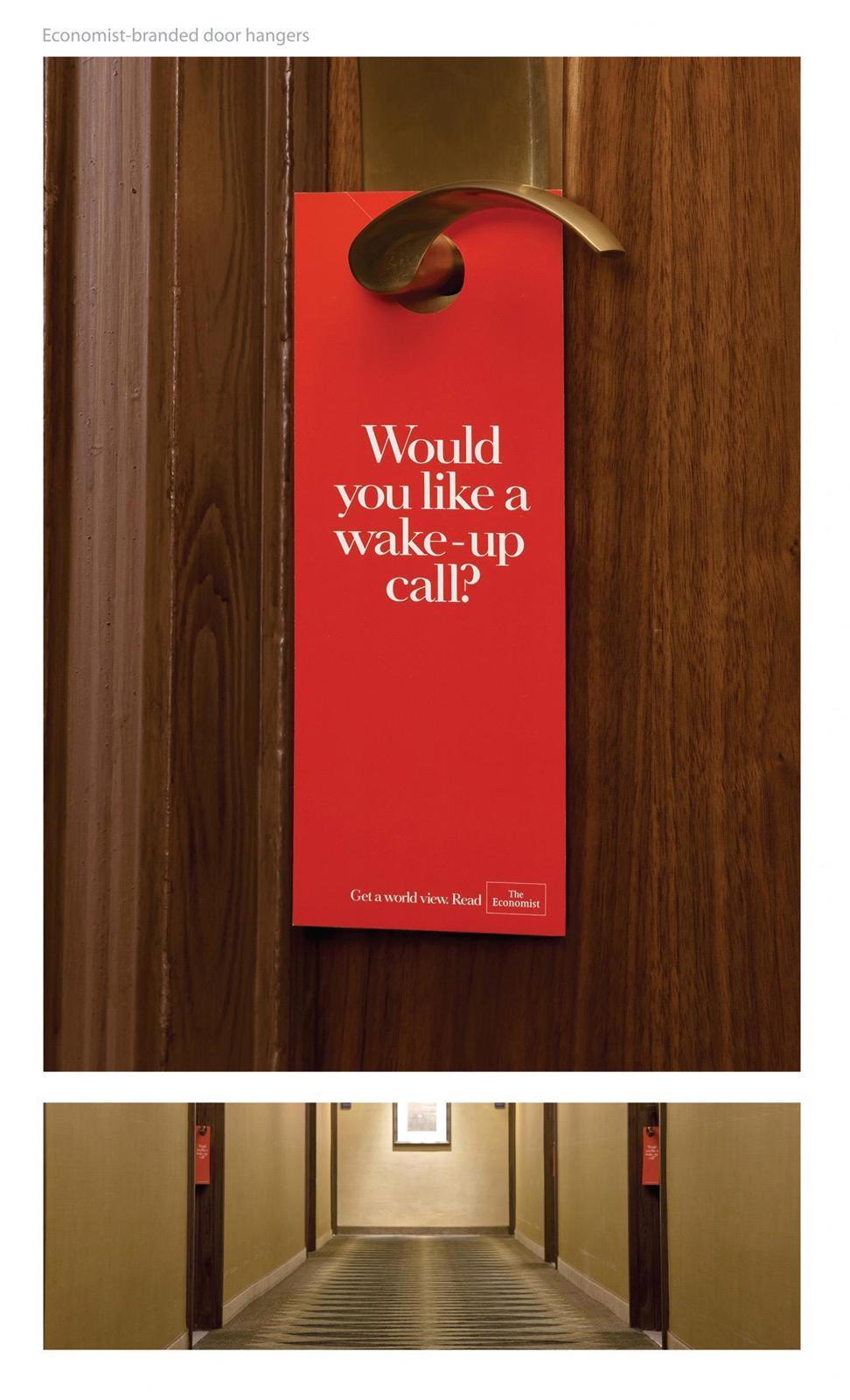 The Economist Direct Ad -  Door hanger