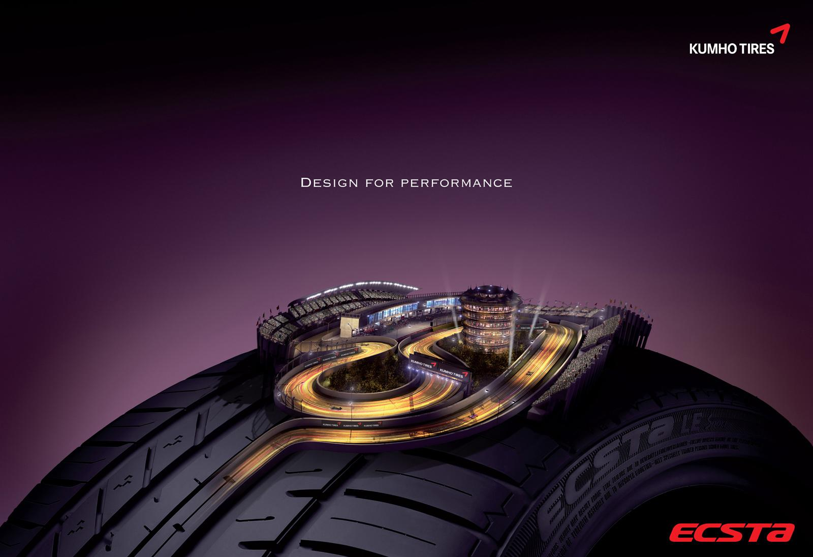 Kumho Tires Print Ad -  Design for performance