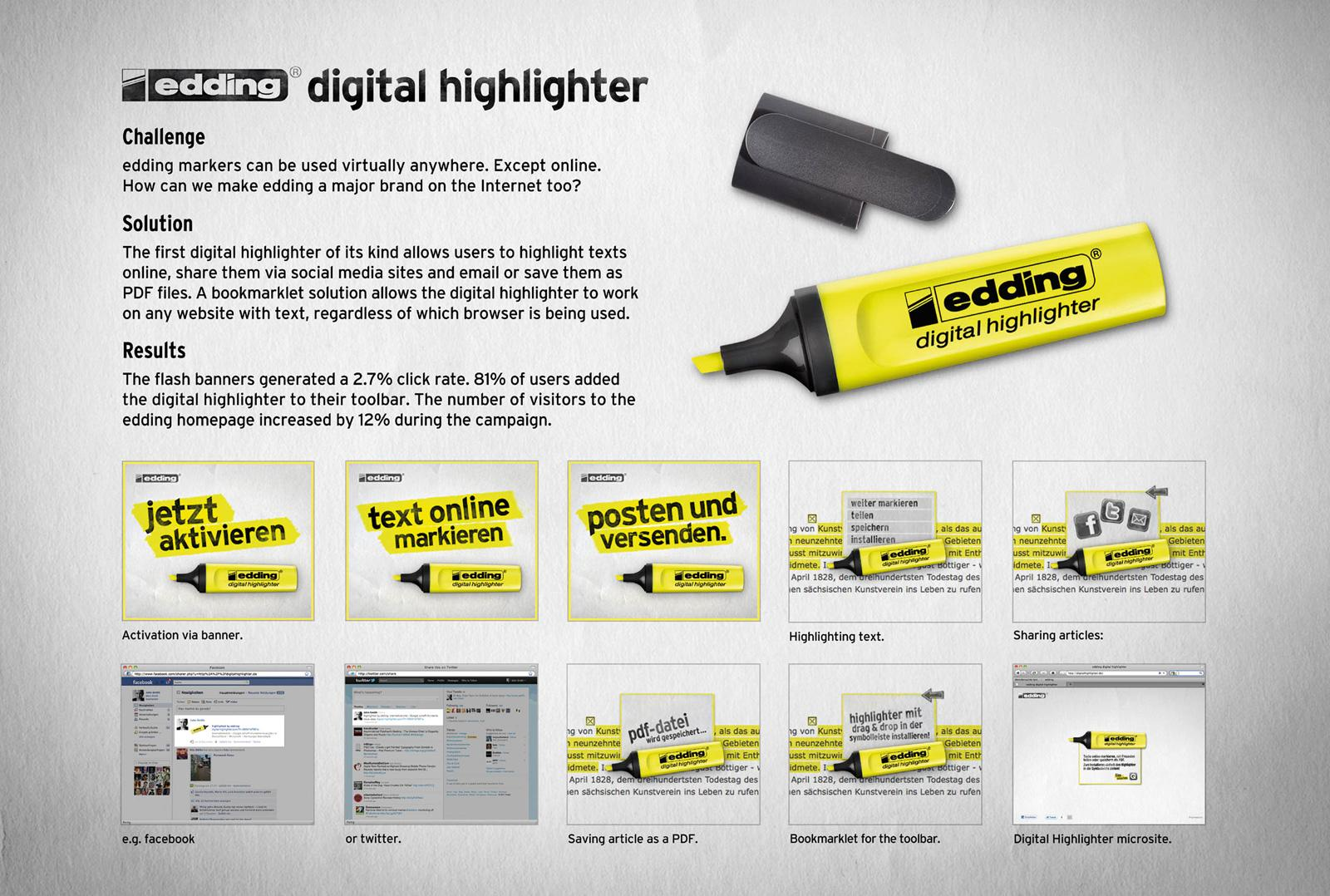 Edding Digital Ad -  Digital Highlighter