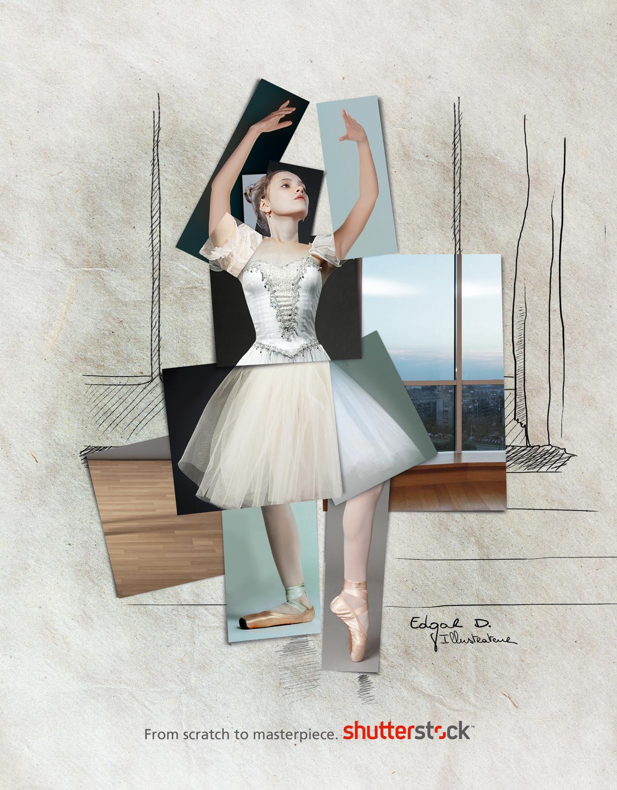 Shutterstock Print Ad -  Edgar Degas