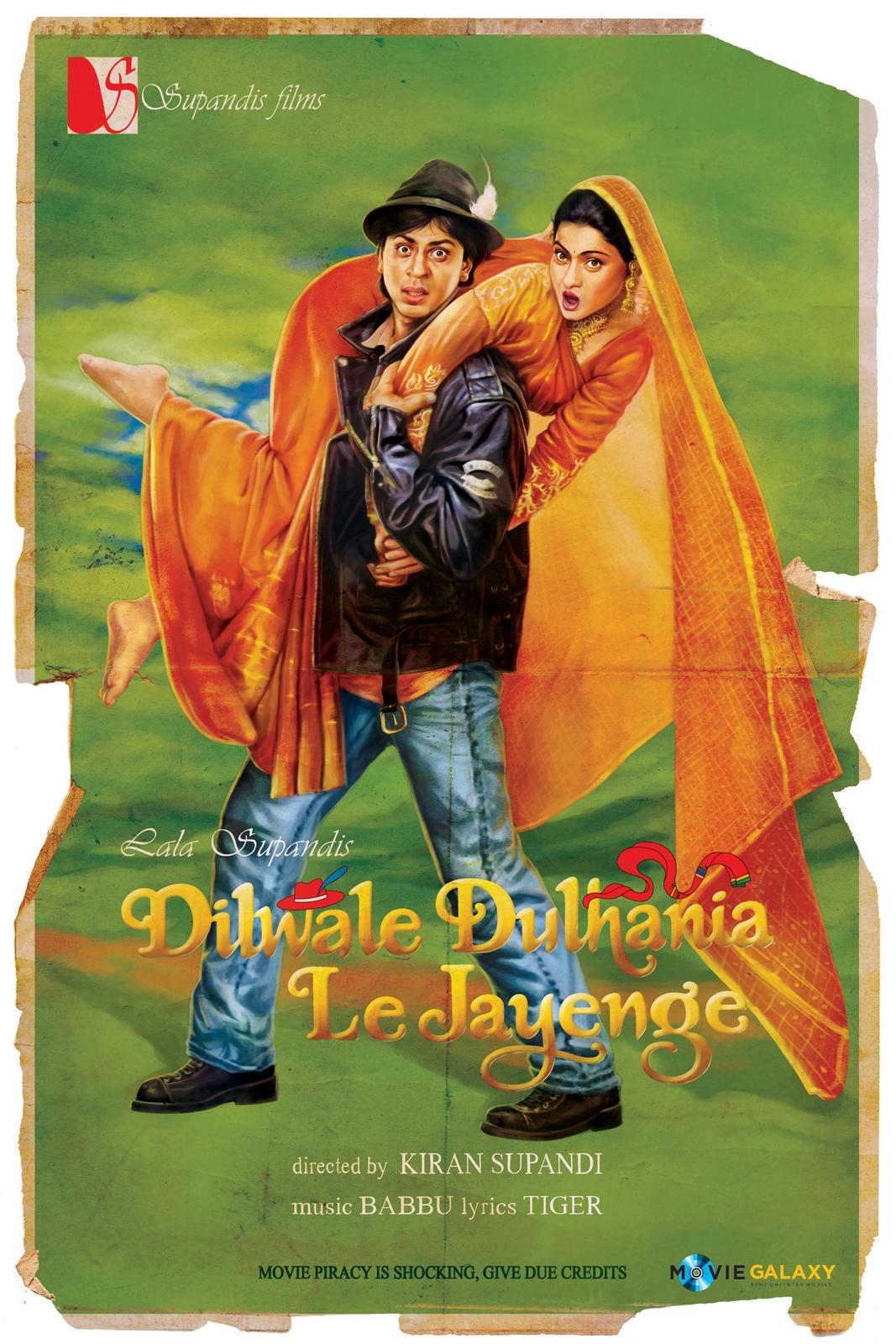 Movie Galaxy Outdoor Ad -  Piracy is Shocking, Dilwale Dulhaniya Le Jayenge