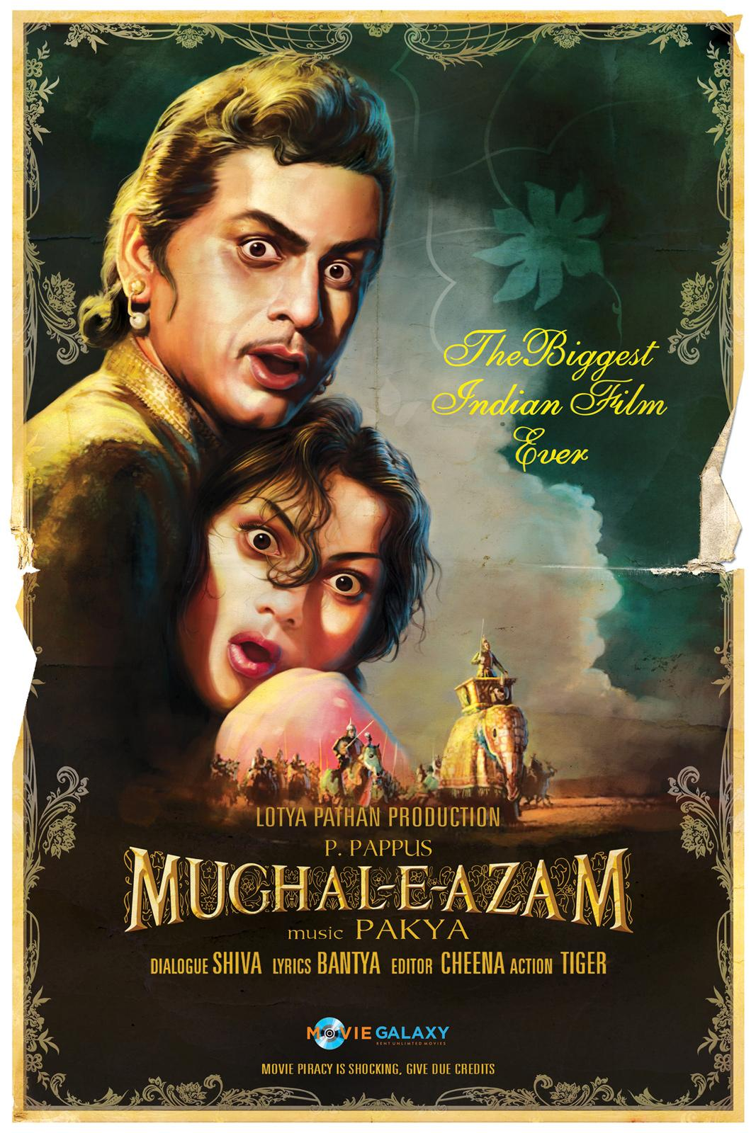 Movie Galaxy Outdoor Ad -  Piracy is Shocking, Mughal-e-azam