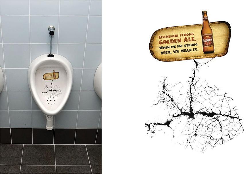 Eisenbahn Ambient Ad -  Urinal