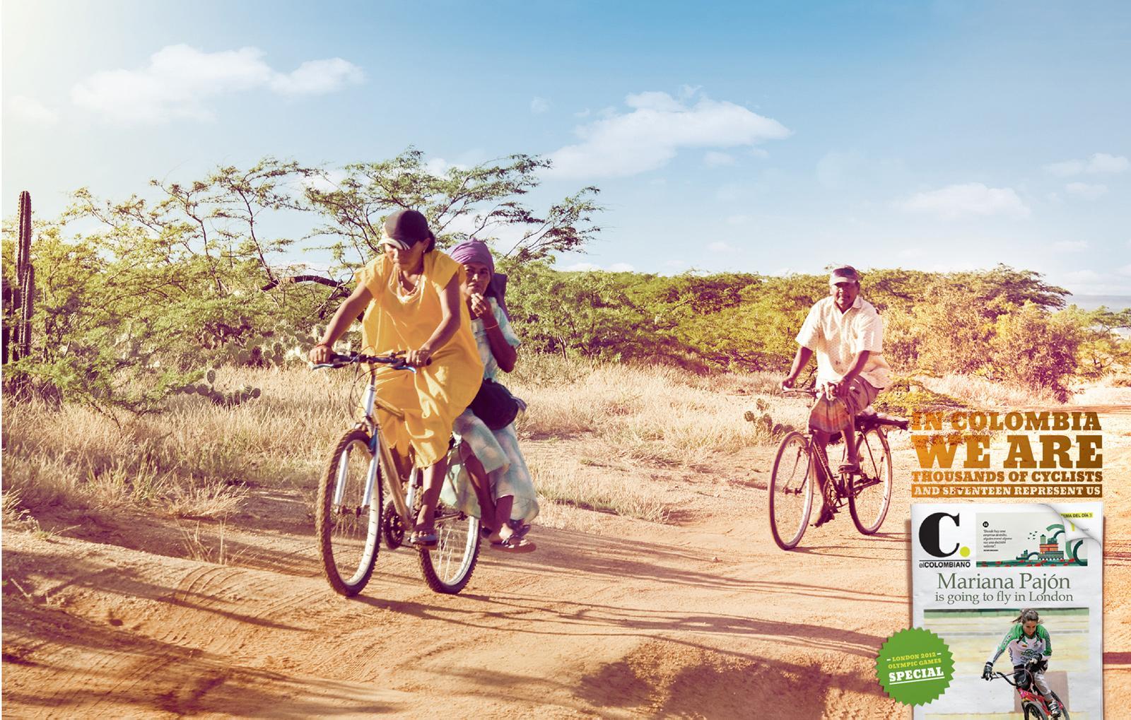 El Colombiano Print Ad -  Cyclists