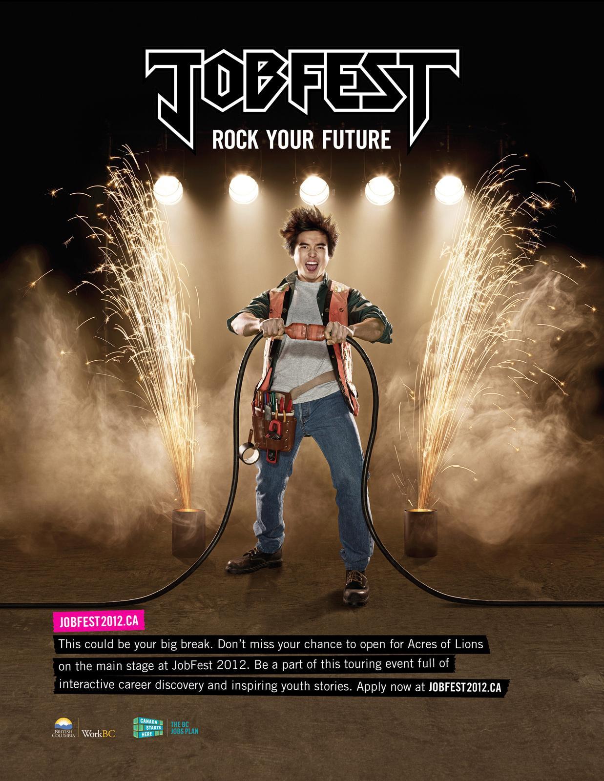 Jobfest Print Ad -  Electrician