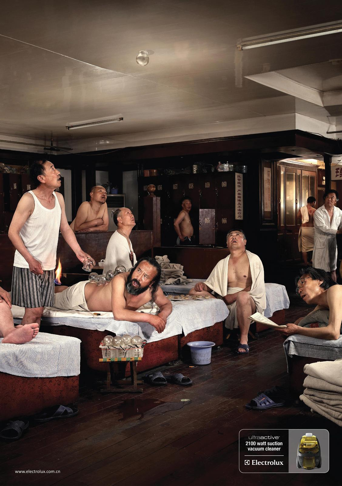 Electrolux Print Ad -  The bath house