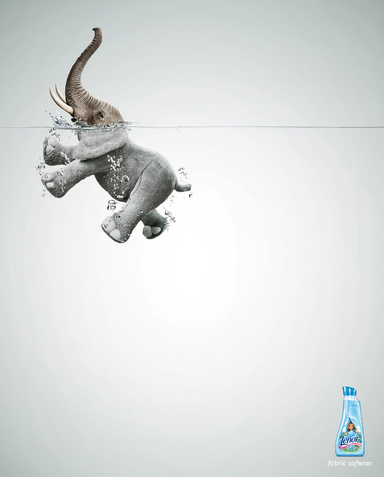 Lenor Print Ad -  Elephant