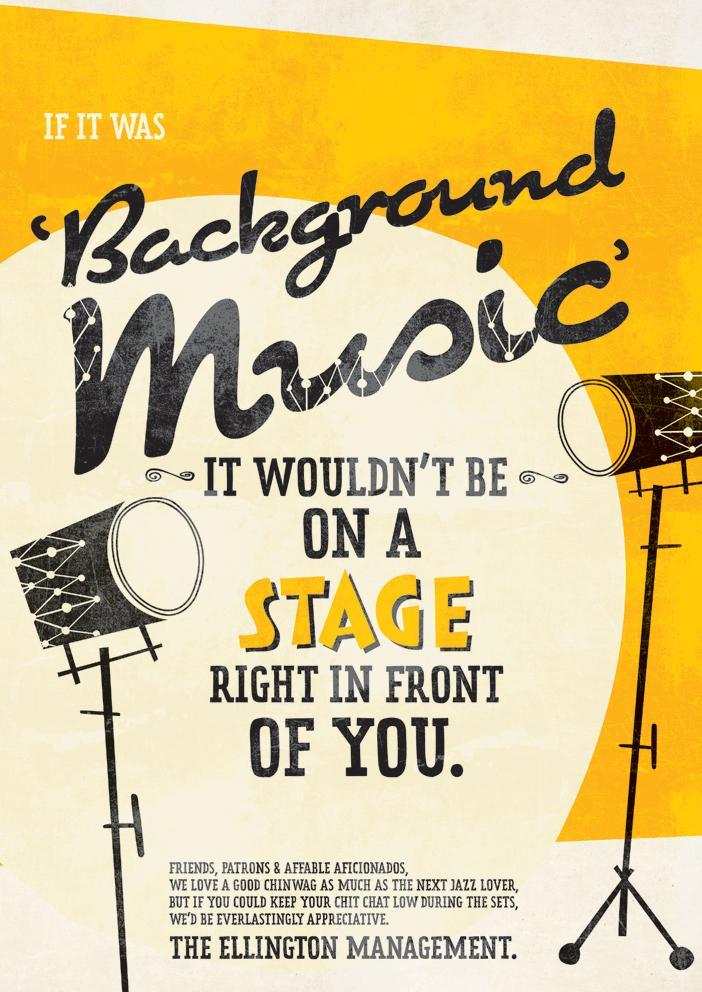 The Ellington Jazz Club Print Ad -  Background Music