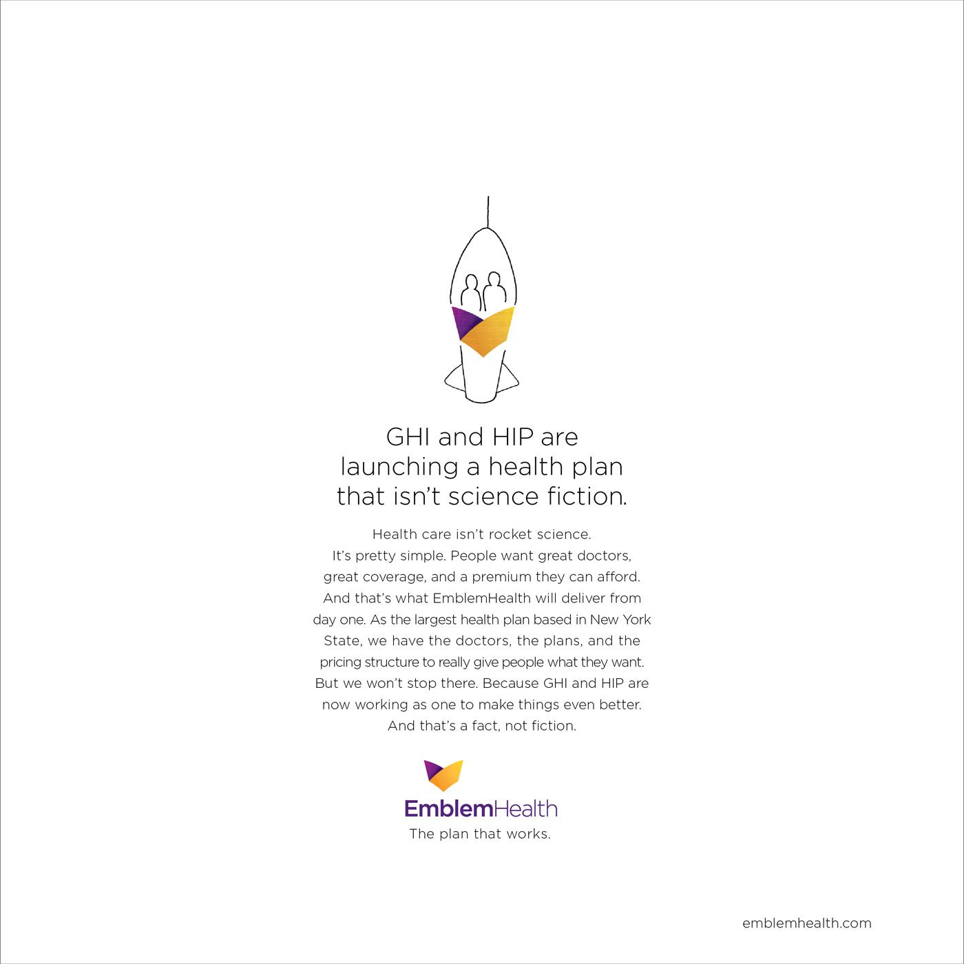 EmblemHealth Print Ad -  Rocket