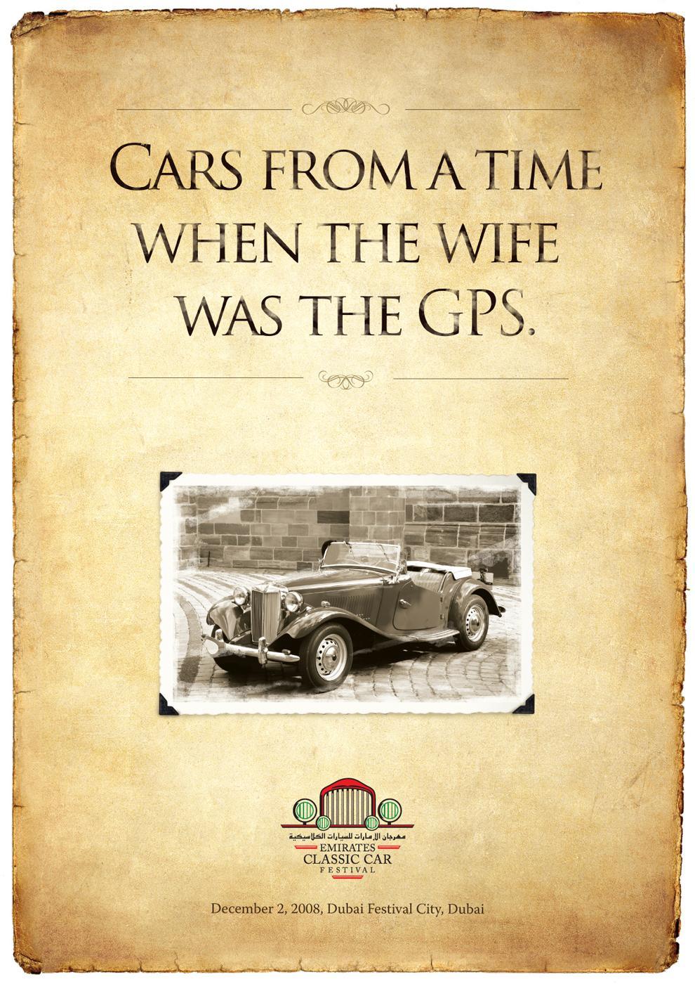 Emirates Classic Car Festival Print Ad -  Wife