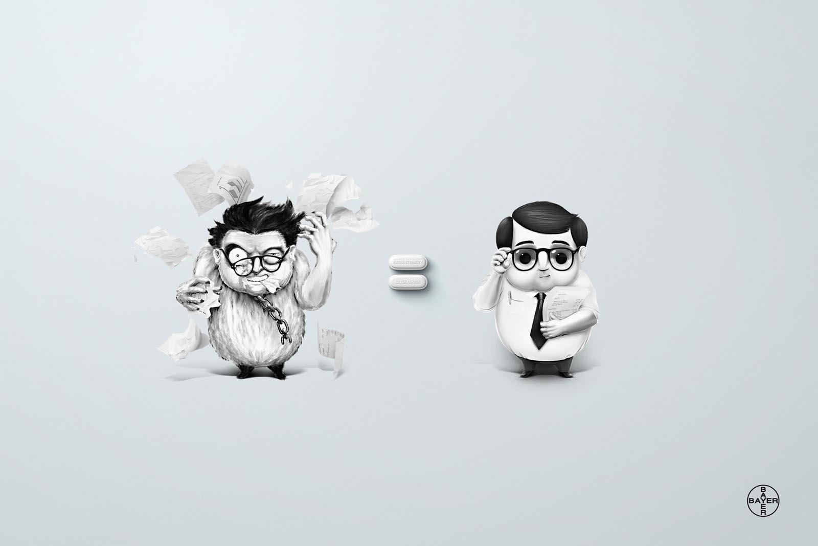 Aspirin Print Ad -  Employee