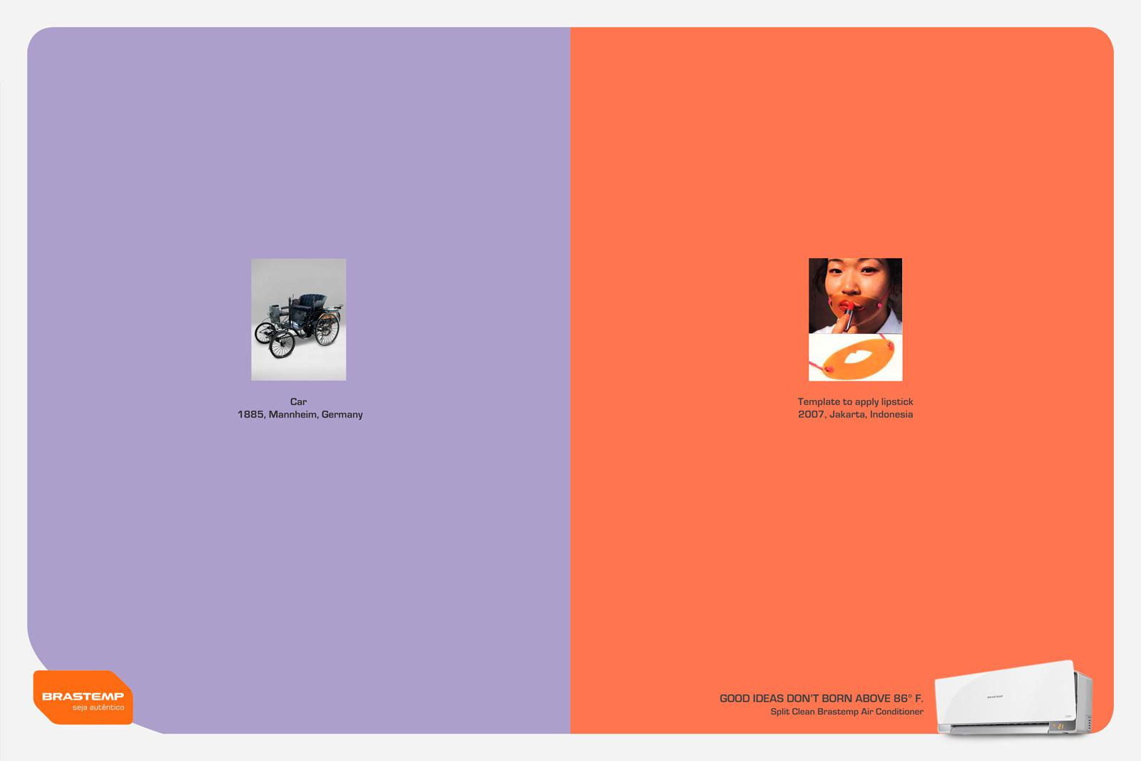Brastemp Print Ad -  Lipstick template