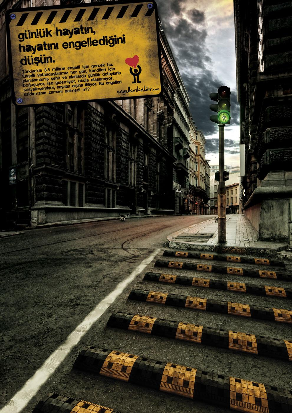 Removing barriers movement Print Ad -  Speed bump