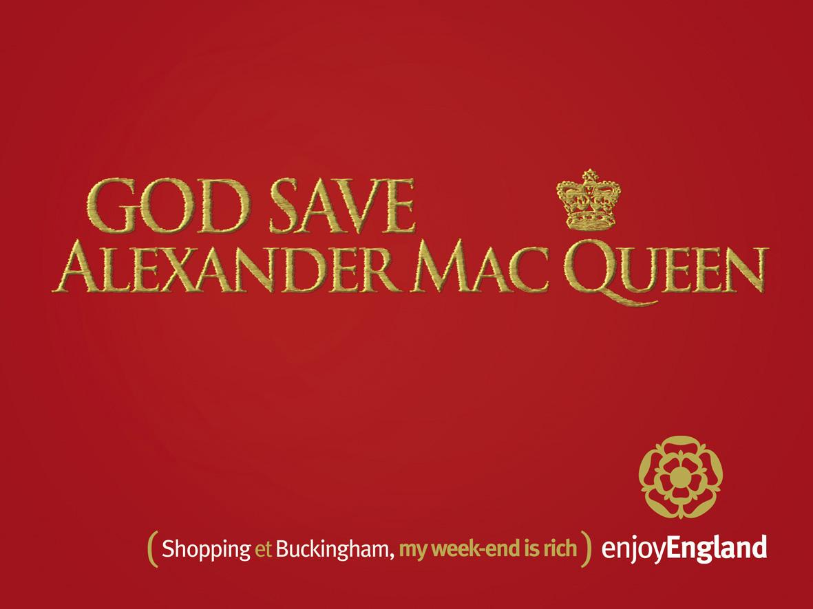 Enjoy England Print Ad -  Queen