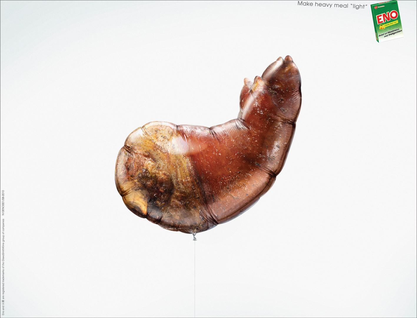 Eno Print Ad -  Food Balloon, Pig Knuckle