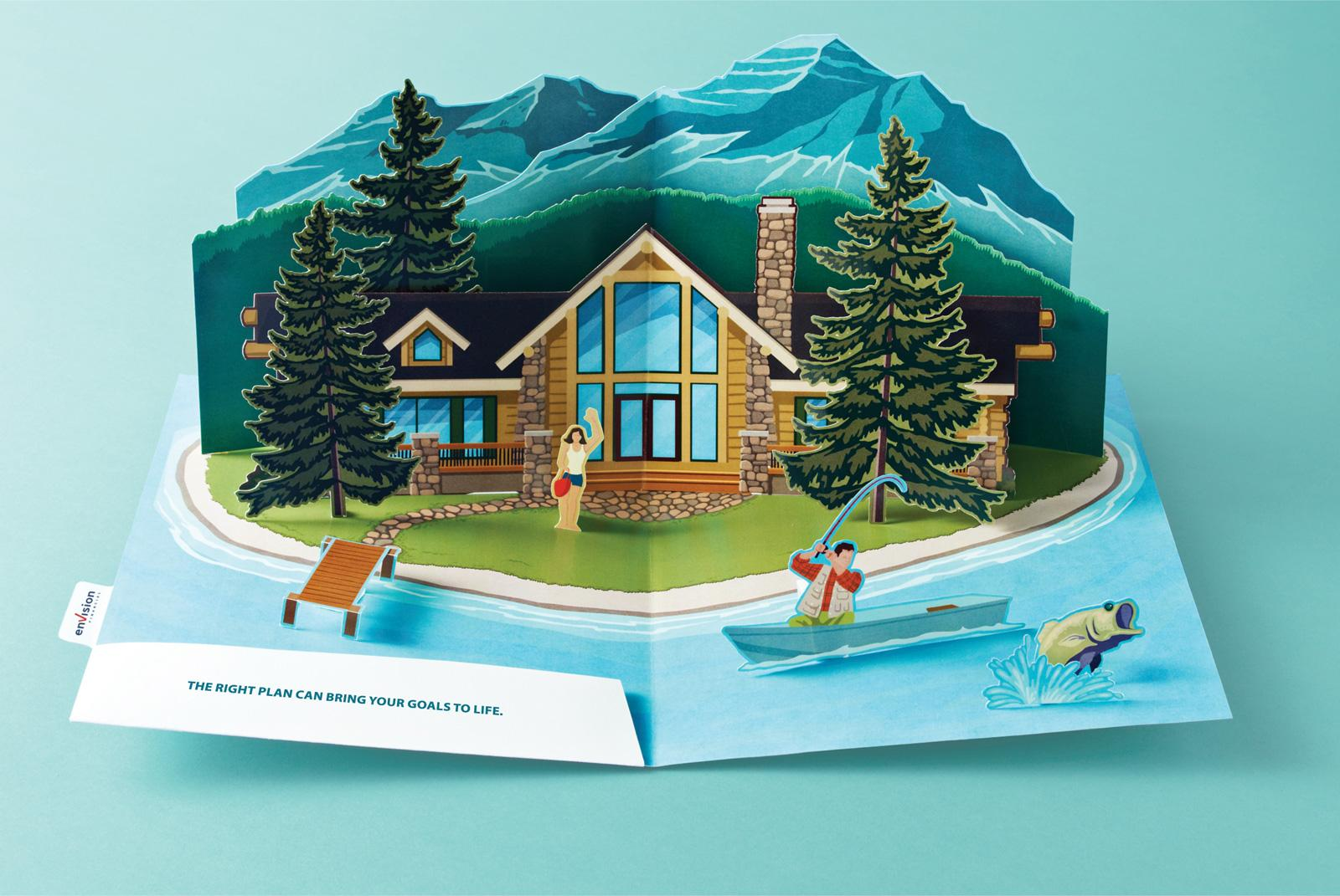 Envision Financial Print Ad -  Pop-Up Island
