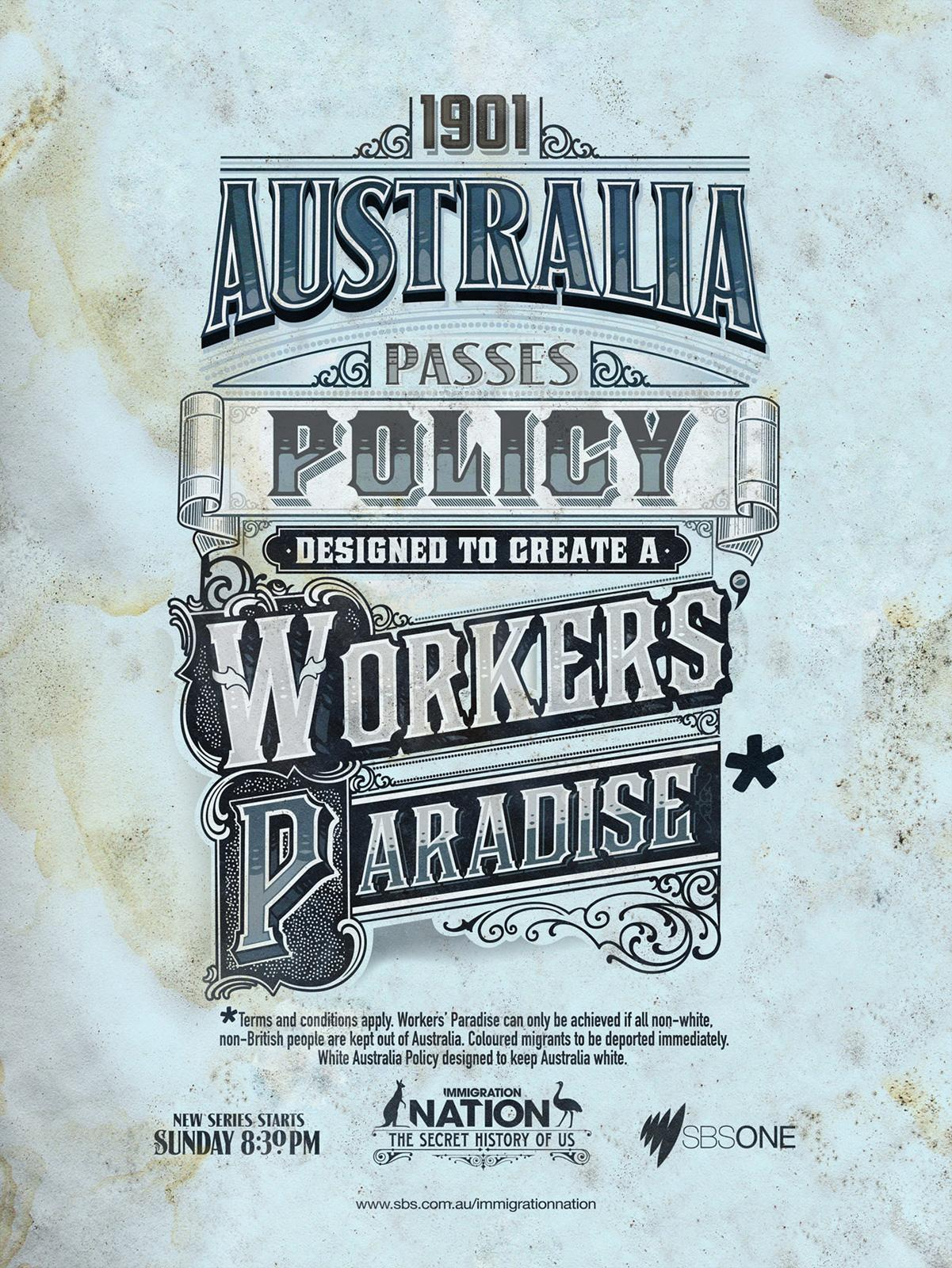 Immigration Nation Print Ad -  Workers' Paradise
