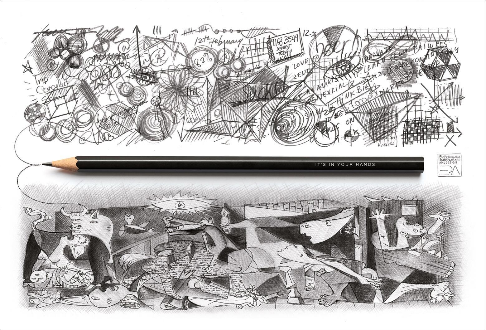 Panamericana School of Art and Design Print Ad -  Pencil
