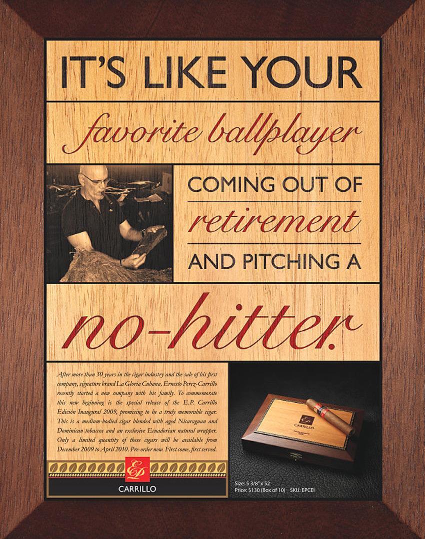 E.P. Carrillo Print Ad -  Ballplayer