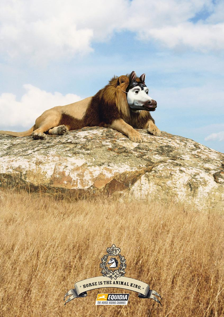 Equidia Print Ad -  The Lion