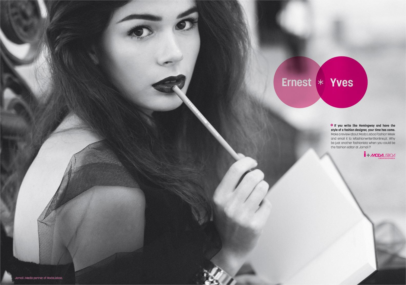Jornal i Print Ad -  Ernest + Yves