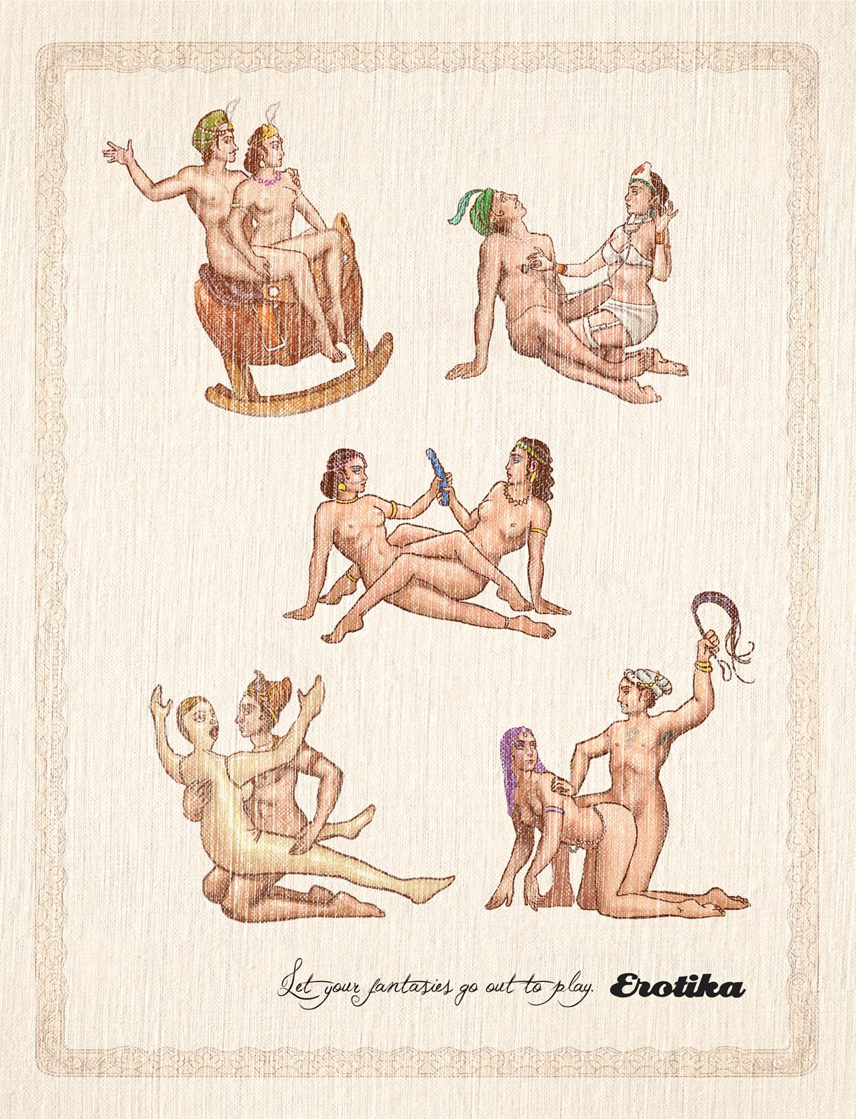 Erotika Sex Shop Print Ad -  Kama Sutra