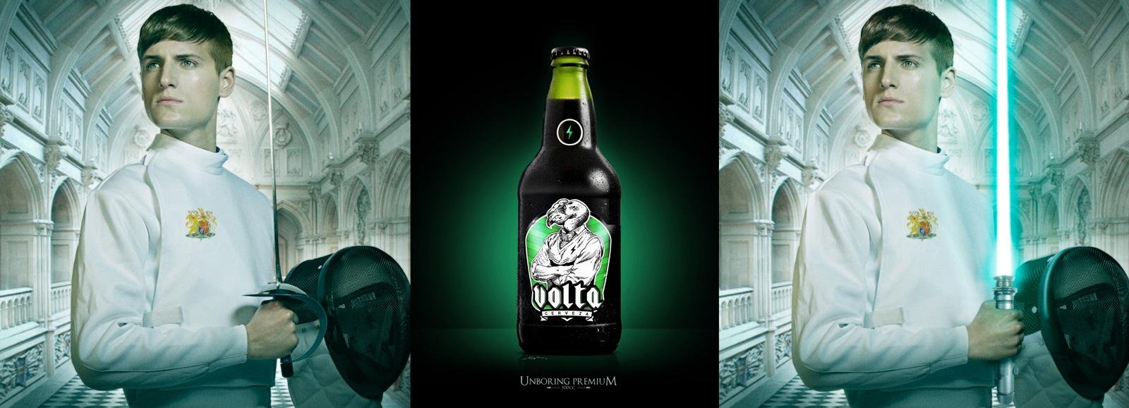 Volta Premium Beer Outdoor Ad -  Sword