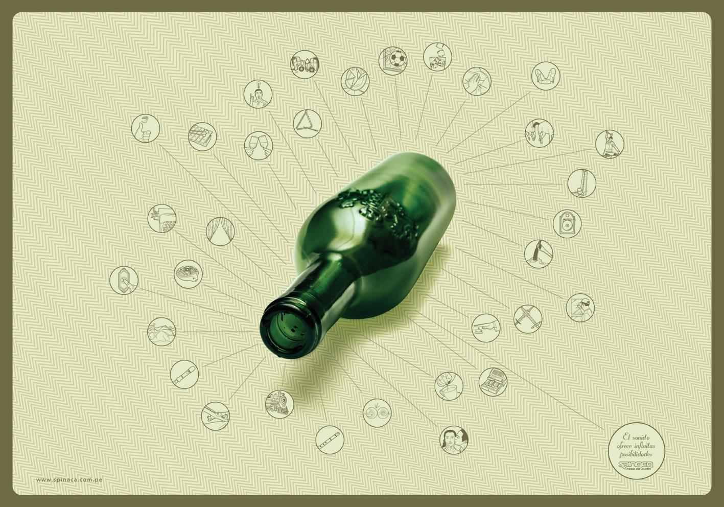 Spinaca Print Ad -  Bottle